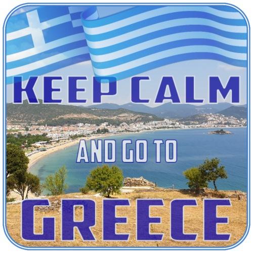 KEEP CALM and go to GREECE - Griechenland - Ellada - Männer Premium T-Shirt