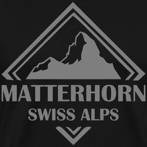Matterhorn - Kanton Wallis T-Shirt oder Hoodie - Männer Premium T-Shirt