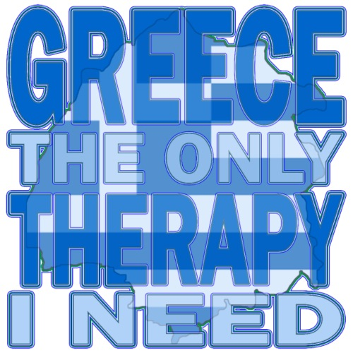 GREECE the only therapy i need - Thassos / Thasos - Männer Premium T-Shirt