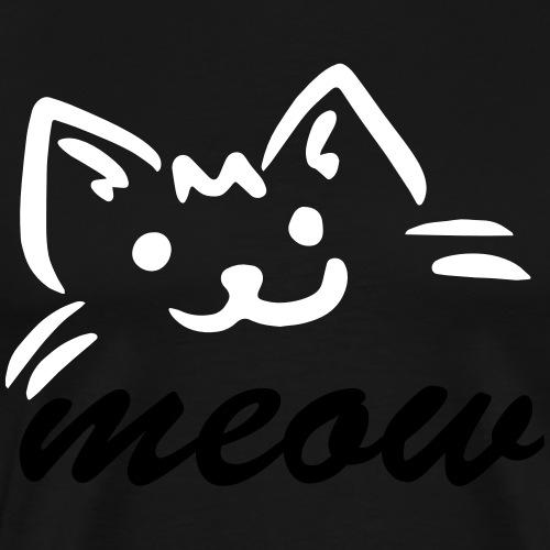 Katze meow - Männer Premium T-Shirt