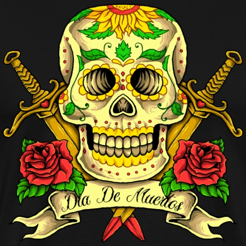 Schädel des Tages der Toten - Männer Premium T-Shirt