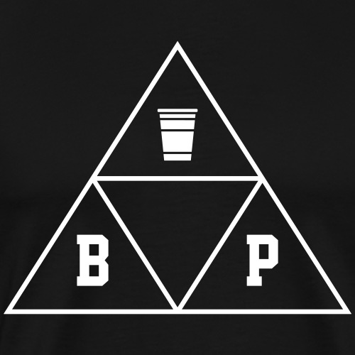 Beer Pong Dreieck-eck-eck - Männer Premium T-Shirt