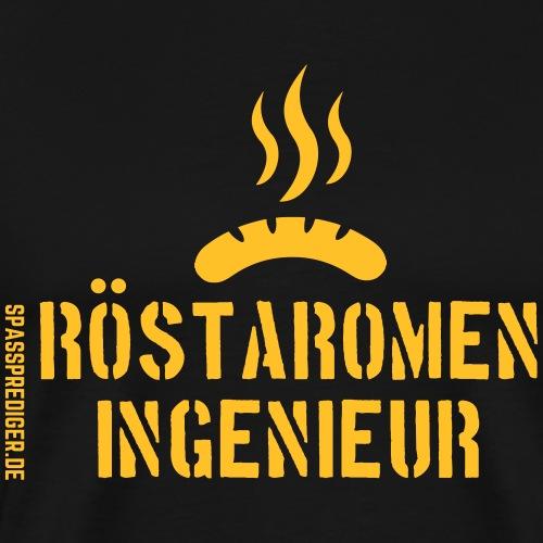 Grill T Shirt Design Röstaromeningenieur - Männer Premium T-Shirt