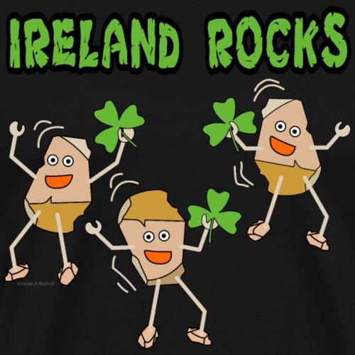 Ireland Rocks For Dark Products - Men's Premium T-Shirt