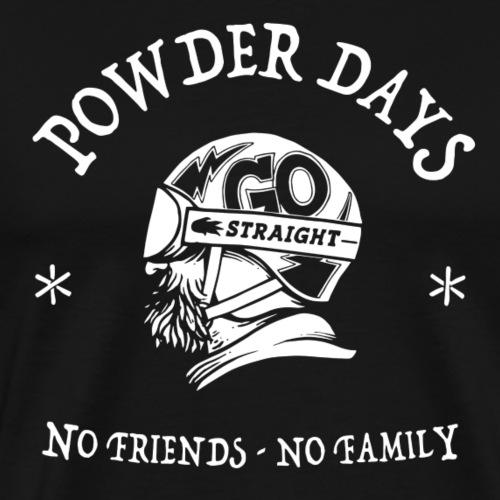 neige - powder days - T-shirt Premium Homme