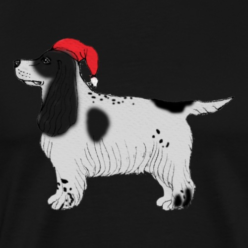 cocker spaniel christmas - Herre premium T-shirt