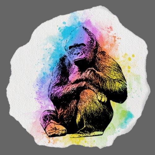 Gorilla Aquarell - Männer Premium T-Shirt