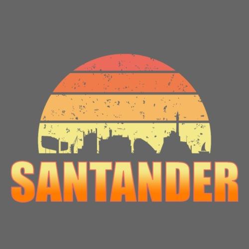 Skyline de Santander ciudad - Camiseta premium hombre