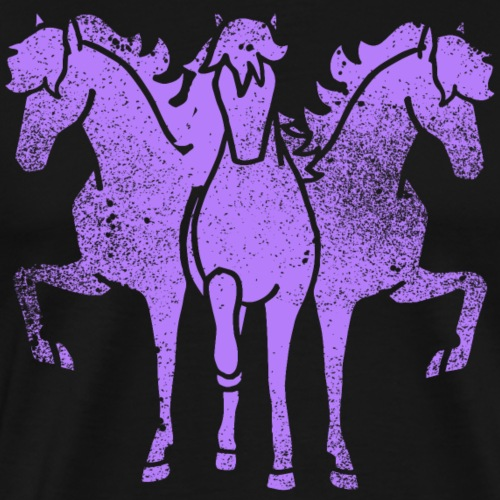 Chevaux Troïka Lila Grunge Drôle idée cadeau Trot - T-shirt Premium Homme