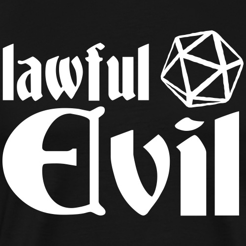lawful evil - Men's Premium T-Shirt