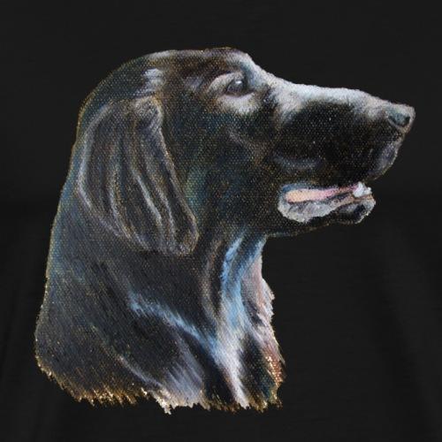 flatcoated retriever color - Herre premium T-shirt