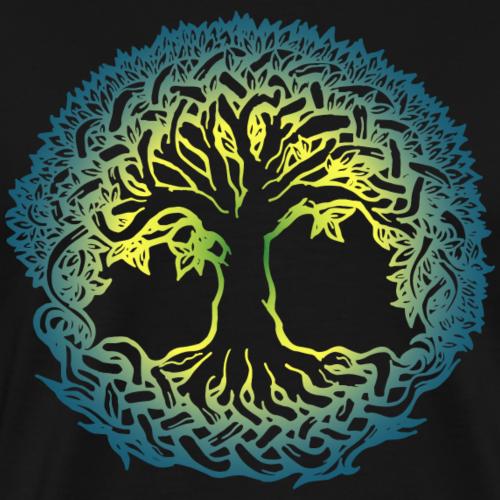 Lebensbaum Boho Bunt Natur Keltisch Geschenk norse - Männer Premium T-Shirt