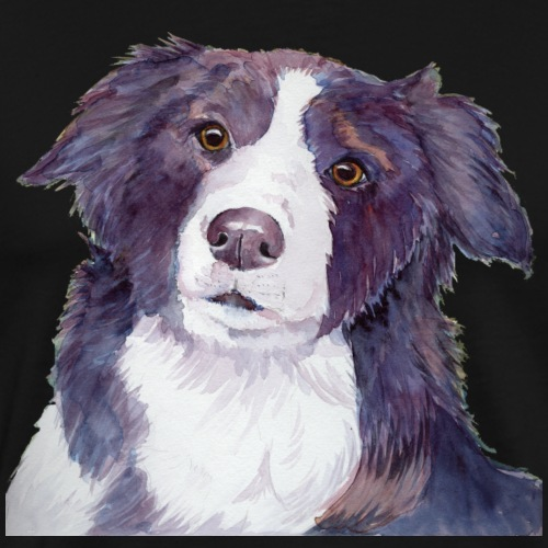 bordercollie coloristic - Herre premium T-shirt