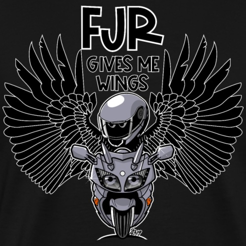 FJR (silverstorm) gives me wings - Mannen Premium T-shirt