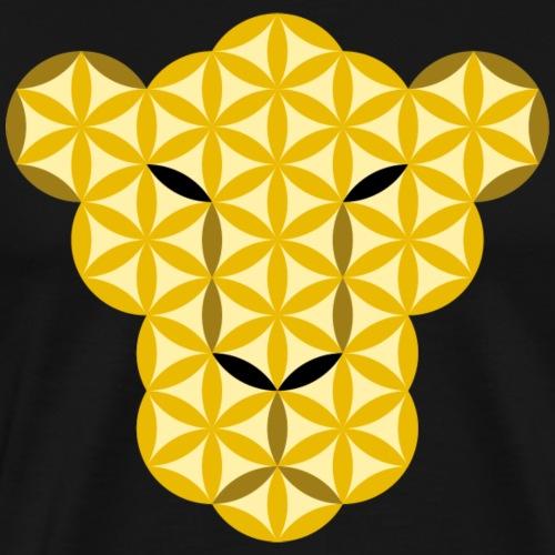 The Panther Of Life - Big Cats, Sacred Animals - Men's Premium T-Shirt