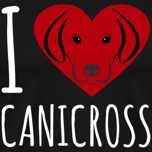 Canicross Dog Hund laufen Trailrunning Shirt Gesch - Männer Premium T-Shirt