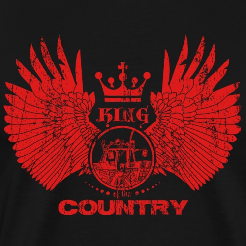 IH KING of the COUNTRY (Red design) - Mannen Premium T-shirt