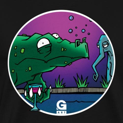 GIGGJOTT animatti coccobrillo - Maglietta Premium da uomo