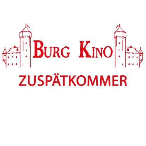 Zuspätkommer mit Burg Kino Logo - Männer Premium T-Shirt