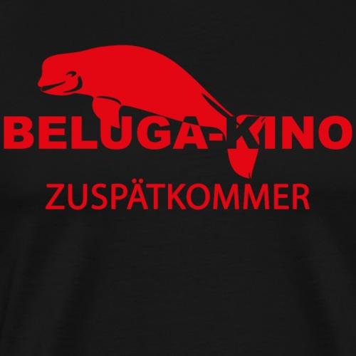 Zuspätkommer mit Beluga Kino Logo - Männer Premium T-Shirt