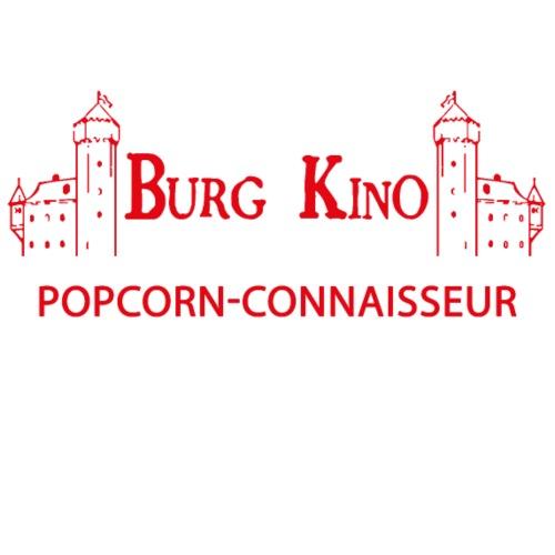 Popcorn-Connaisseur mit Burg Kino Logo - Männer Premium T-Shirt