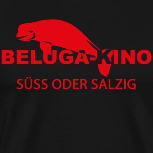 SÜSS ODER SALZIG mit Beluga Kino Logo - Männer Premium T-Shirt