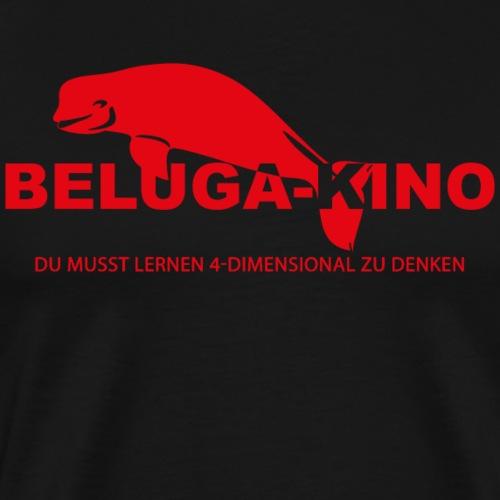 Du musst lernen 4-Dimensional zu denken + Logo - Männer Premium T-Shirt
