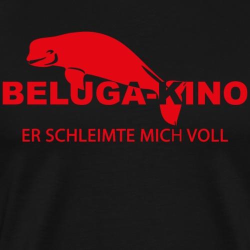 Er schleimte mich voll mit Beluga Kino Logo - Männer Premium T-Shirt