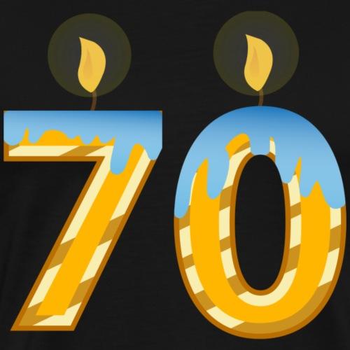 70th Birthday Candles - Men's Premium T-Shirt