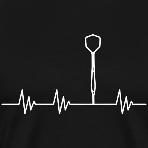 Puls Herzschlag Dart - Männer Premium T-Shirt