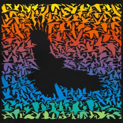 Abstract rainbow predator bird and its prey - Männer Premium T-Shirt