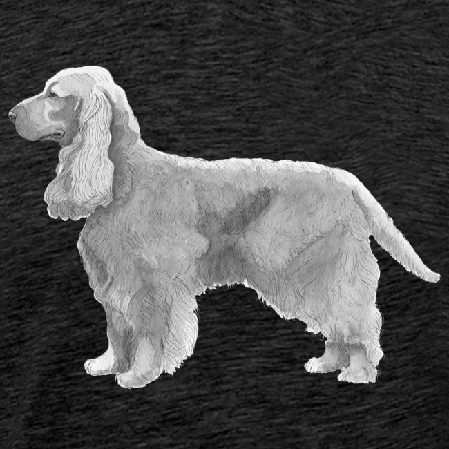 English cocker spaniel golden