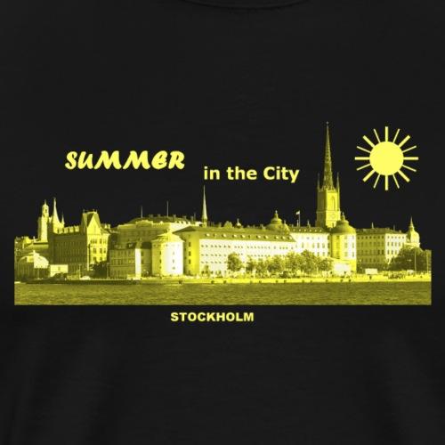 Summer City Stockholm Schweden - Männer Premium T-Shirt