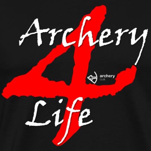 Archery4Life white - Männer Premium T-Shirt