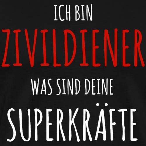 Zivi Zivildiener Superheld lustig Shirt Geschenk - Männer Premium T-Shirt