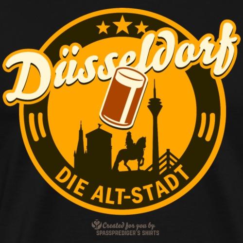 Düsseldorf - Spruch Die Alt-Stadt & Wahrzeichen - Männer Premium T-Shirt