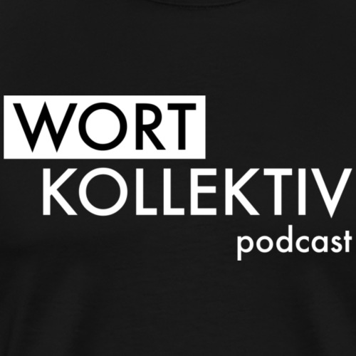Wortkollektiv Schriftzug weiß - Männer Premium T-Shirt