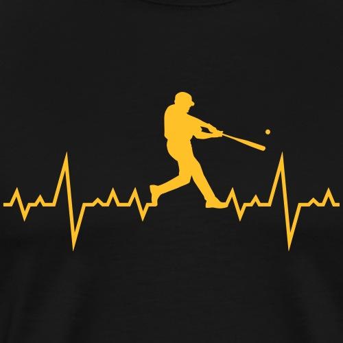 Haert line Baseball - T-shirt Premium Homme