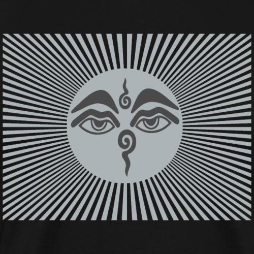 Buddhas Augen Stupa - Männer Premium T-Shirt