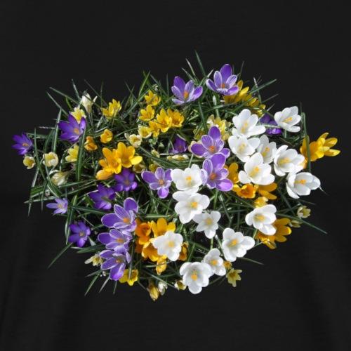 Krokus Blume Blüte Frühling Frühjahr - Männer Premium T-Shirt