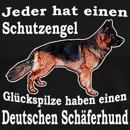 Schutzengel Schäferhund W - Männer Premium T-Shirt
