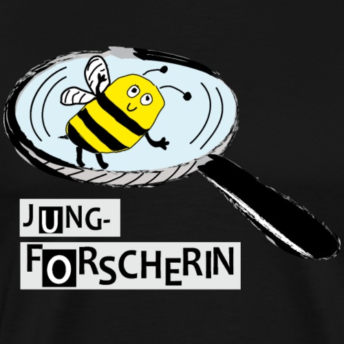 Jungforscherin mit Biene - Männer Premium T-Shirt