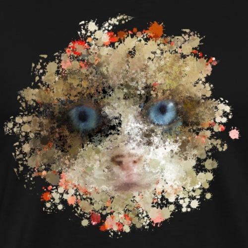 Katze orange blau braun - Männer Premium T-Shirt