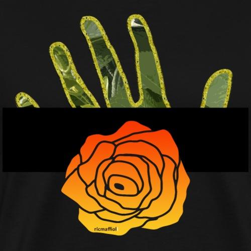 La rosa nella mano - Maglietta Premium da uomo