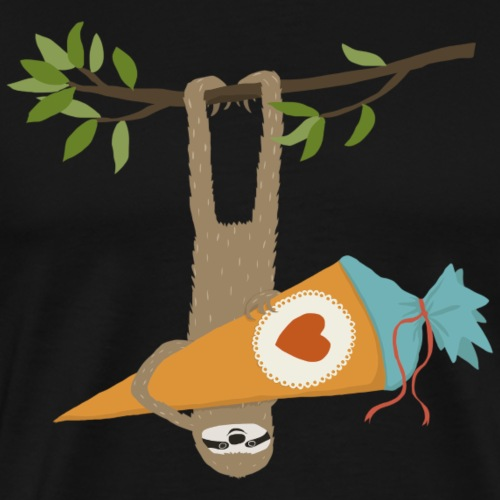 Faultier mit Schultüte - Männer Premium T-Shirt