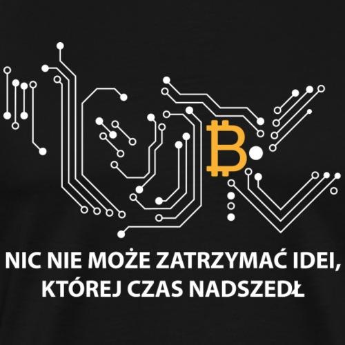 bitcoin generation bialy - Koszulka męska Premium