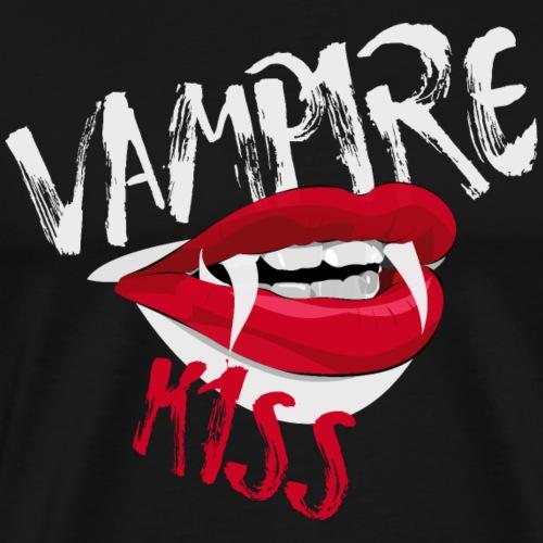 Vampire Vampir Dracula Kiss Shirt Geschenk - Männer Premium T-Shirt