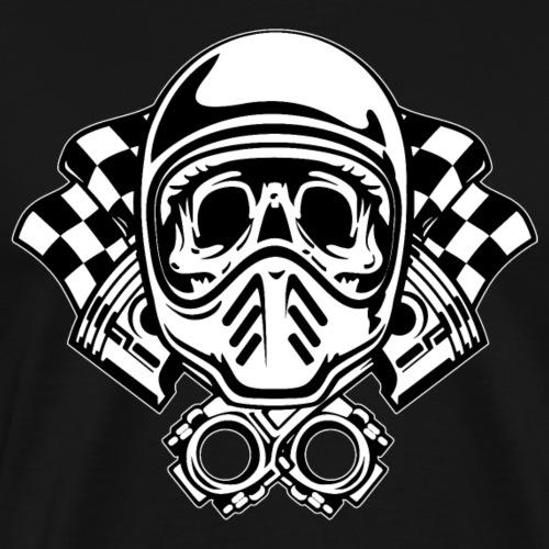 Racing Skull Helmet - Men's Premium T-Shirt