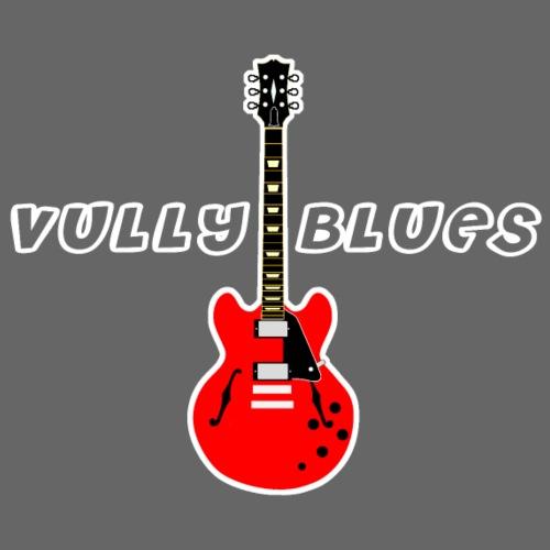 Guitare avec texte Vully Blues classique blanc
