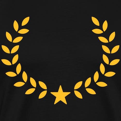 Siegerkranz Dein Text Stern Sieger Gewinner Kranz - Männer Premium T-Shirt